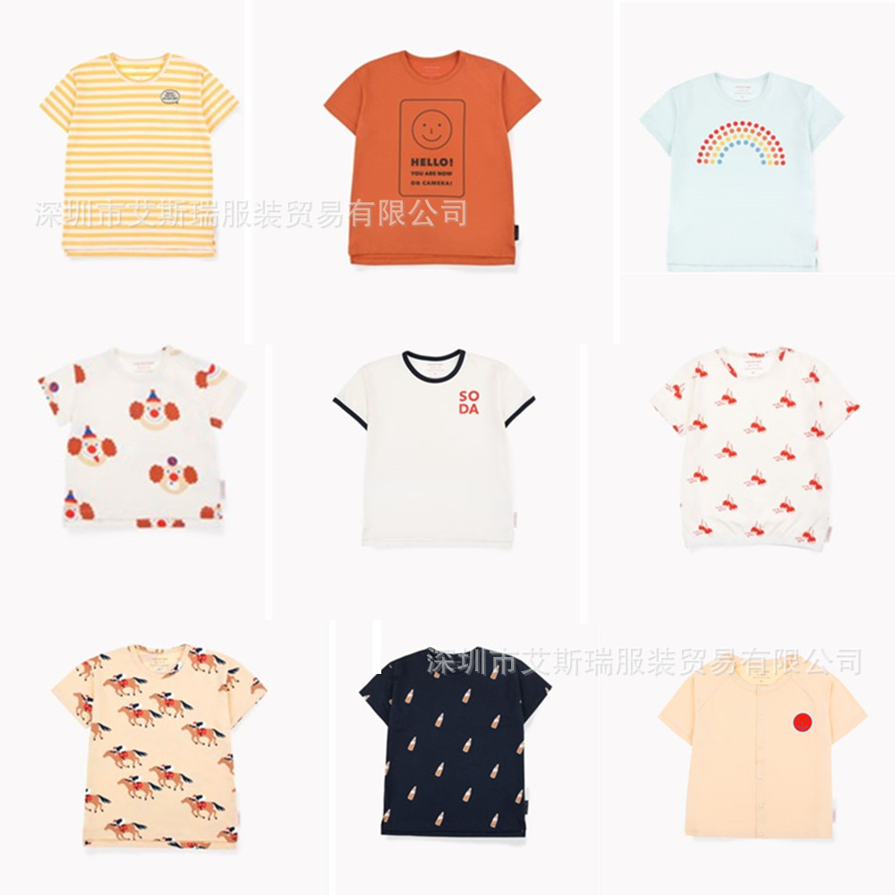 Clean Up Inventory 2019 Children's T-shirt Spring And Summer New Tc Same Series   Baby Cotton Short-sleeved T-shirt