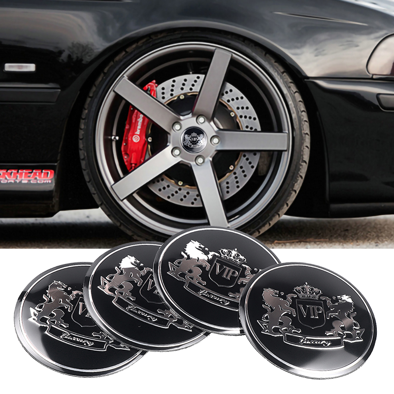 56MM Universal <font><b>Car</b></font> <font><b>Wheel</b></font> <font><b>Hub</b></font> <font><b>Center</b></font> <font><b>Caps</b></font> Sticker 4PCS VIP Logo for Chevrolet Suzuki Dodge <font><b>Skoda</b></font> Audi S BMW Nissan Ford Honda AMG image