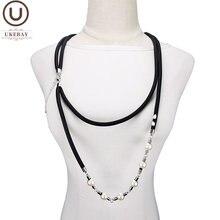 Женское ожерелье ручной работы ukebay жемчужное с кулоном в