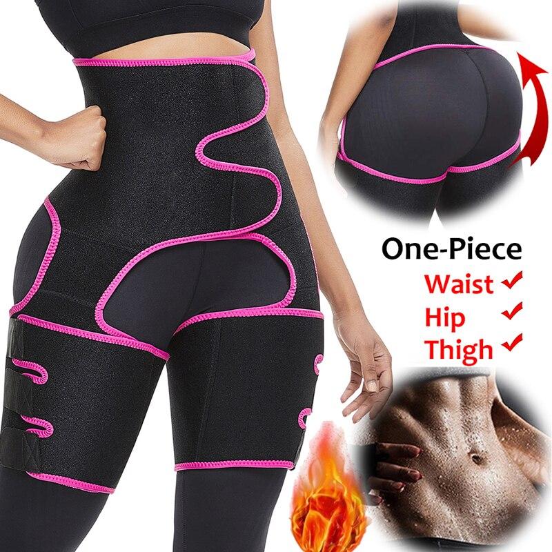 Neoprene Slim Thigh Trimmer Leg Shapers Slimming Belt Waist Trainer Sweat Shapewear Fat Burning Compress Belt