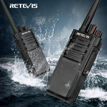 Potężny Walkie Talkie IP67 wodoodporna RETEVIS RT29 2 sztuk UHF/VHF daleki zasięg dwóch sposób nadajnik odbiornik radiowy dla gospodarstwa magazyn fabryki