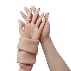 Кроссдрессер силиконовый женский с реалистичной кожей руки поддельные руки для трансвеститов транссексуал Маскарад Фетиш транссексуал Хэ...