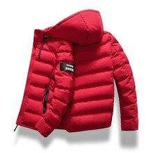 2019 marke Mode Herbst Winter Jacke Parka Männer Frauen Mantel Mit Kapuze Warm Herren Winter Mantel Casual Fit Mantel 4XL Parkas männlichen