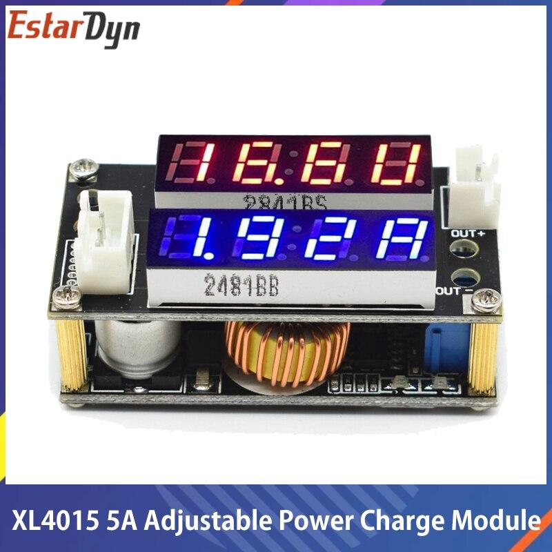 Понижающий зарядный Модуль XL4015 5A с регулируемой мощностью CC/CV, светодиодный драйвер, вольтметр, амперметр, постоянный ток, постоянное напря...