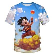 Verão venda quente 3dt camisa anime dos desenhos animados dragão bola personagem menino/menina moda legal tendência de manga curta o-pescoço camiseta