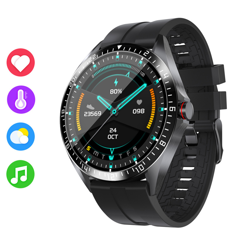 GW16 Smart Watch Body Temperature Heart Rate Blood Pressure Oxygen Monitor IP68 Sports Mode Weather Display Bluetooth Smartwatch
