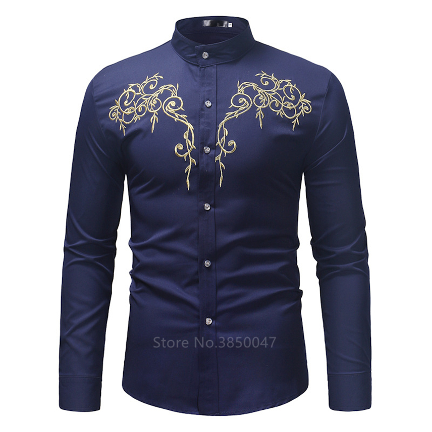 2020 African Clothes for Men Shirt Dashiki Long Sleeve Embroidery Rich Bazin Print Traditional Africa Fashion Dresses Clothing 2