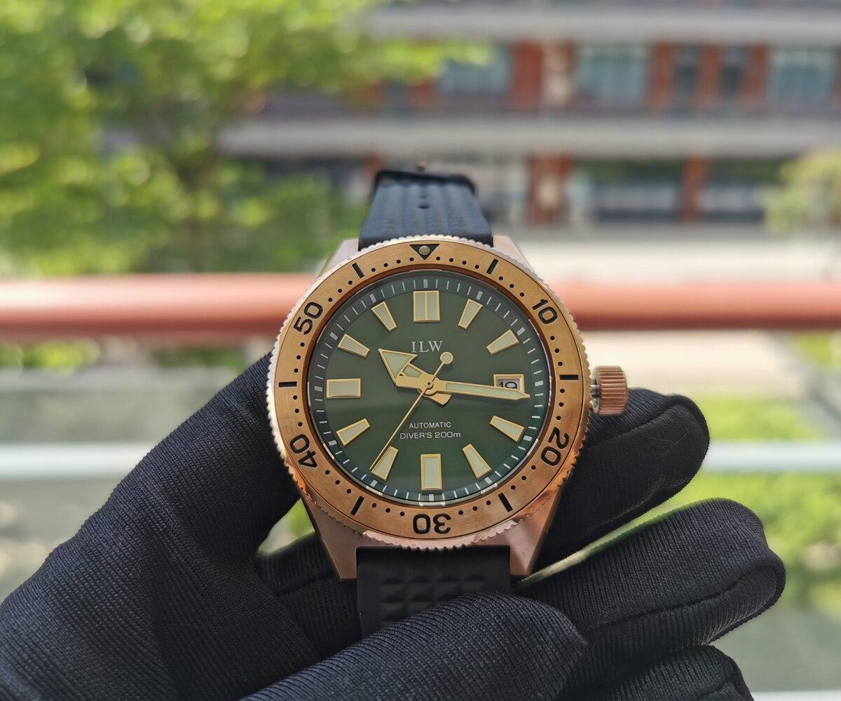 pino de borracha fivela cinta 20bar esporte mergulho relógio