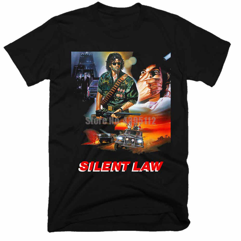 Silent Law Movie Homme Tee Shirt Hip Hop Clothing Tshirts Sexy Girl T Shirts O Neck T-Shirts For Men image
