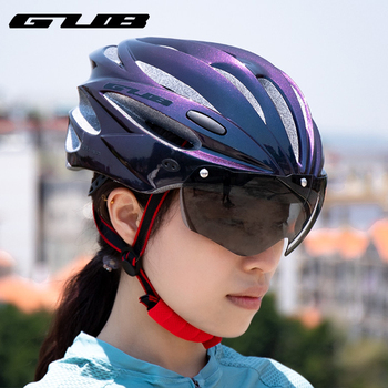 GUB Cycling Helmet with Visor Magnetic Goggles Integrally-molded 58-62cm for Men Women MTB Road Bicycle Bike Helmet K80