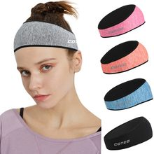 Hair Band Headbands for Women Women Men Headband Yoga Sport Workout Turban Head Wrap Prevent Ear Injury gumki do wlosow(China)