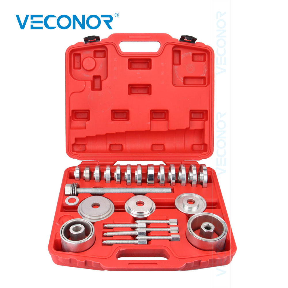 31 Pieces Disassembly-Free Elevation Angle Palin Disassembler Install Automobile Iron Bushing Bearing Disassembly Puller Tool