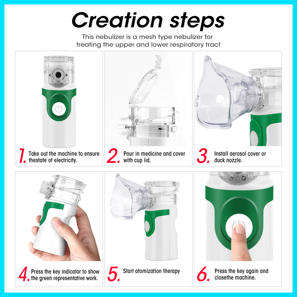 Image 3 - Health Care Handheld Portable Inhale Nebulizer Silent Ultrasonic  Children Adult Rechargeable Automizer Medical Equipment YM 252Steaming  Devices