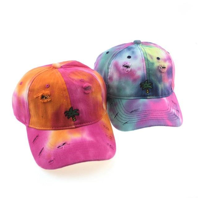 хлопковая кепка с вышивкой и принтом tie dye женские бейсболки фотография