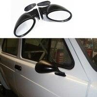 Espejo retrovisor lateral de ala Retro clásico para puerta de coche  estilo Universal de California  Vintage negro mate L + R