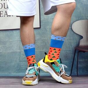 Image 5 - SANZETTI Calcetines de algodón peinado para hombre, calcetín, ropa estilo informal, 12 pares por lote