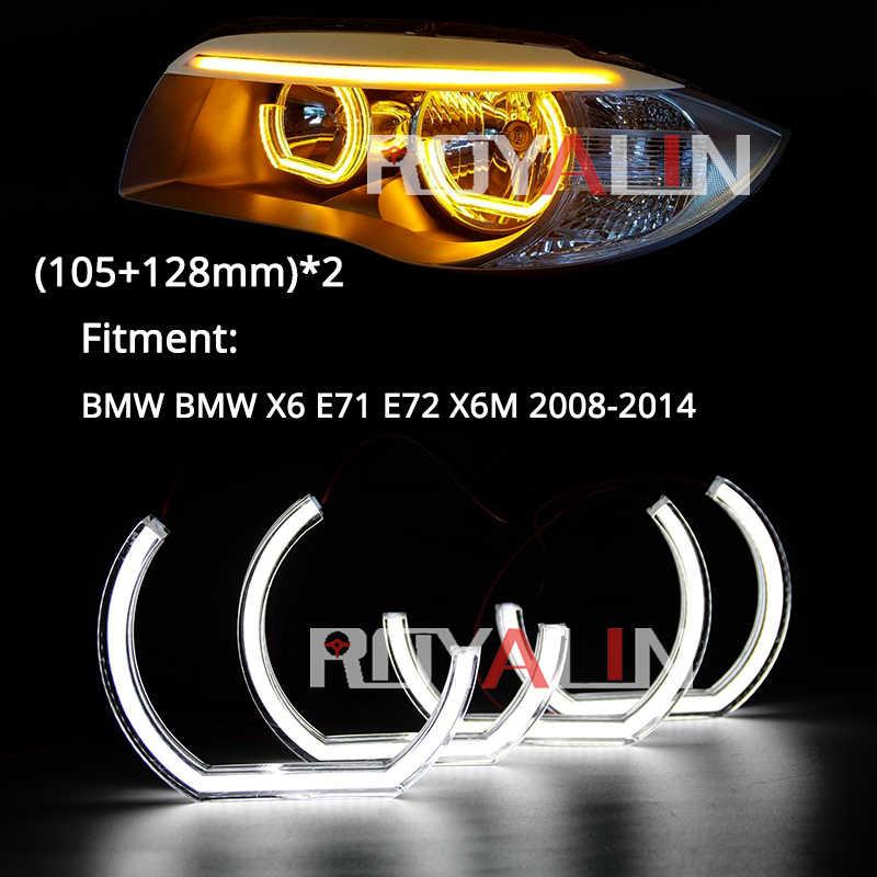LED Fari Alogeni Di Profondità Per BMW E60 E82 E87 E90 E91 E92 E71 F10 F13 F30 F31 Tuning AUTO Luce di Segnale Halo anelli 3D DTM LCI Stile Acrilico