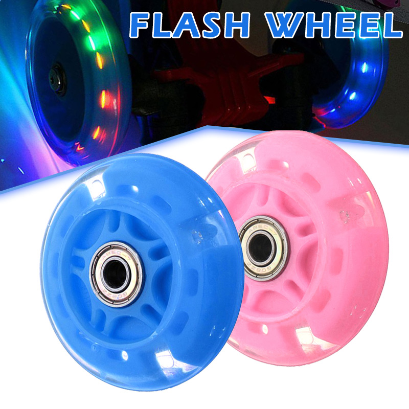 4 Pcs Inline Skates Wheels Flash Light Up With Magnetic Core Sliding Roller Skating FH99