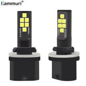 KAMMURI 2Pcs H27W1 H27W/1 880 Led Bulbs Fog Lights for Cars Led Fog Driving Lamp 12SMD 3030 Car Light Sourse White H27W H27 Led(China)