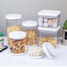 New Storage Box Kitchen Food Container Airtight Storage Box Unique Sealing Design Drop Shipping 500ml 900ml 1200ml 1700ml cheap CN(Origin) Modern 11x11 5cm 11x15cm 11x24cm 11x19cm Dropshipping