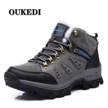 2019 Winter With Fur Snow Boots For Men Sneakers Male Shoes Adult Casual Quality Waterproof Unisex Rubber Ankle Warm Boots
