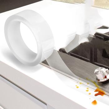 Wielokrotnego użytku wodoodporna taśma samoprzylepna zlewozmywak kuchenny Nano taśma gazowa olejoodporna taśma uszczelniająca do toaleta wc Gap tanie i dobre opinie CN (pochodzenie) hydrauliczny NONE