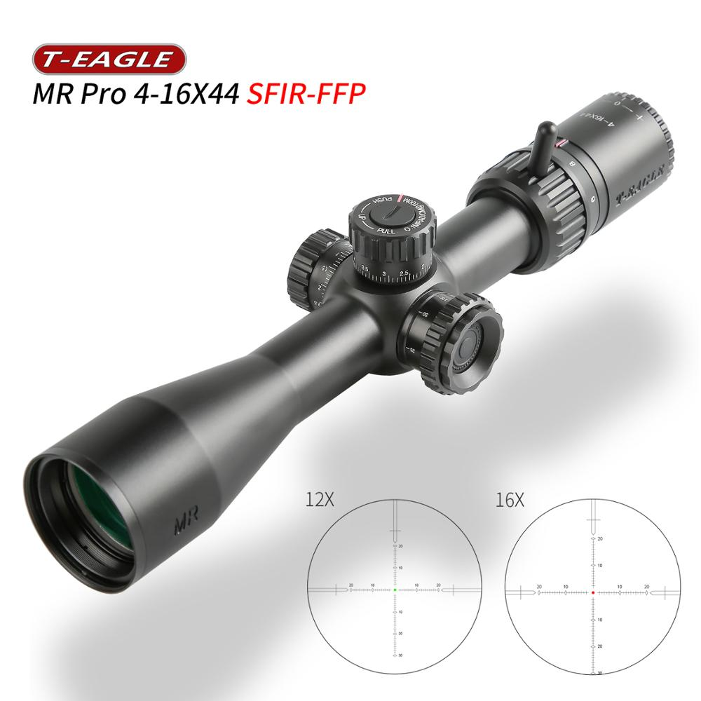 New Model T-EAGLE MR PRO 4-16X44 FFP Scope First Focal Plane Reticle Riflescope 1/10Mil Long Range  Optics Sights Fit .308 Win