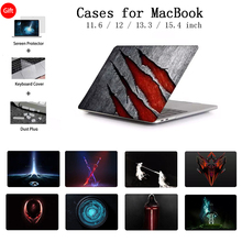 Laptop Case For Apple MacBook Case Pro 13.3 15.4 For Macbook Air Pro Retina 12 13 15 Case Touch Bar Keyboard Cover A2159 Shell цена и фото
