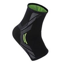 1 pçs tornozelo cinta compressão suporte manga elástica respirável tornozelo proteção movimento lesão recuperação meias s/m/l