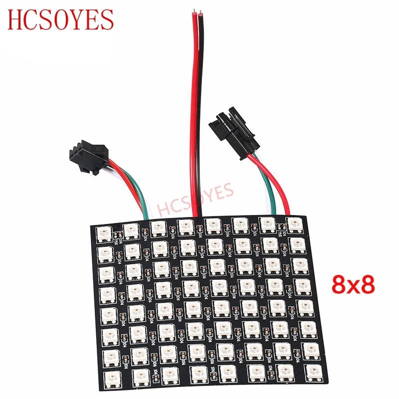 Image 3 - 16x16 8x32 8x8 led Pixels WS2812B Digital Flexible LED Panel Individually addressable Full Dream Color DC5V-in LED Strips from Lights & Lighting