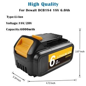 Image 3 - Bonacell 6000mAh 18V MAX XR for Dewalt Power Tool Battery for DCB180 DCB181 DCB182 DCB201 DCB201 2 DCB200 DCB200 2 DCB204 2 L50