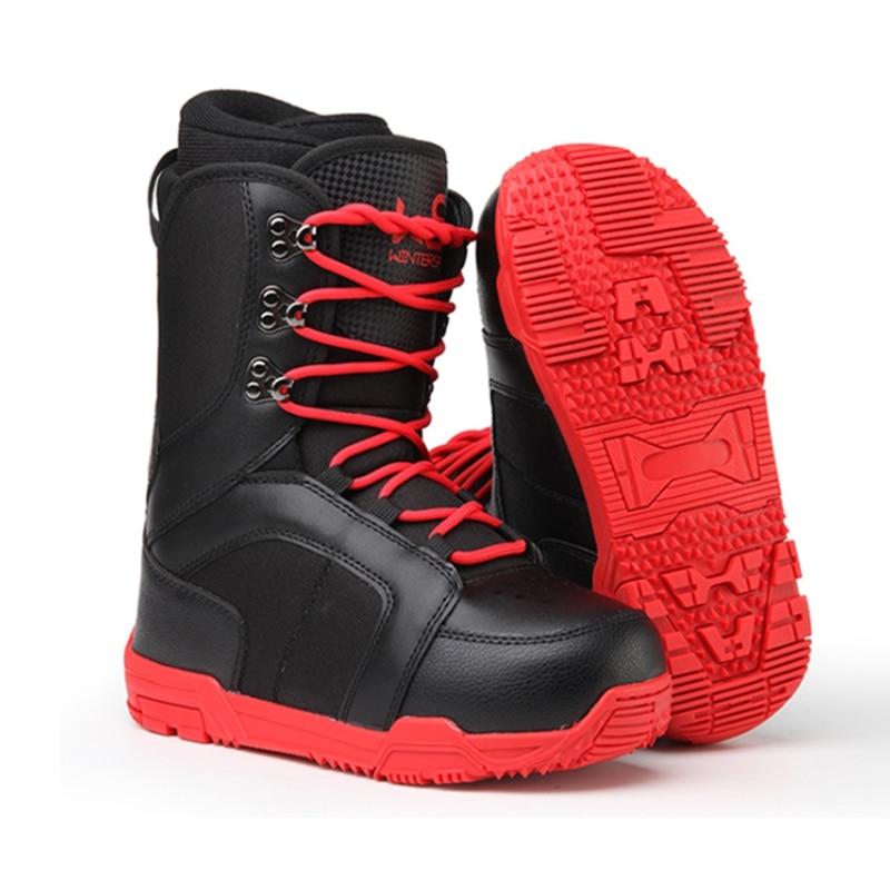 Snowboarding-Boots Ski-Shoes Non-Slip Waterproof Warm Men Ski-Equipment Professional