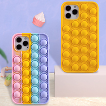 Phone-Case Fidget-Toys Relive Stress Soft-Silicone 8-Plus for 6 6s 7/8-plus/X/.. Push-It-Bubble