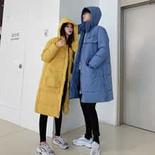 Winter Coat Men Warm Thick Fashion Parka Solid Color Casual Hooded Man Loose Long Cotton Jacket Male Clothes S-2XL