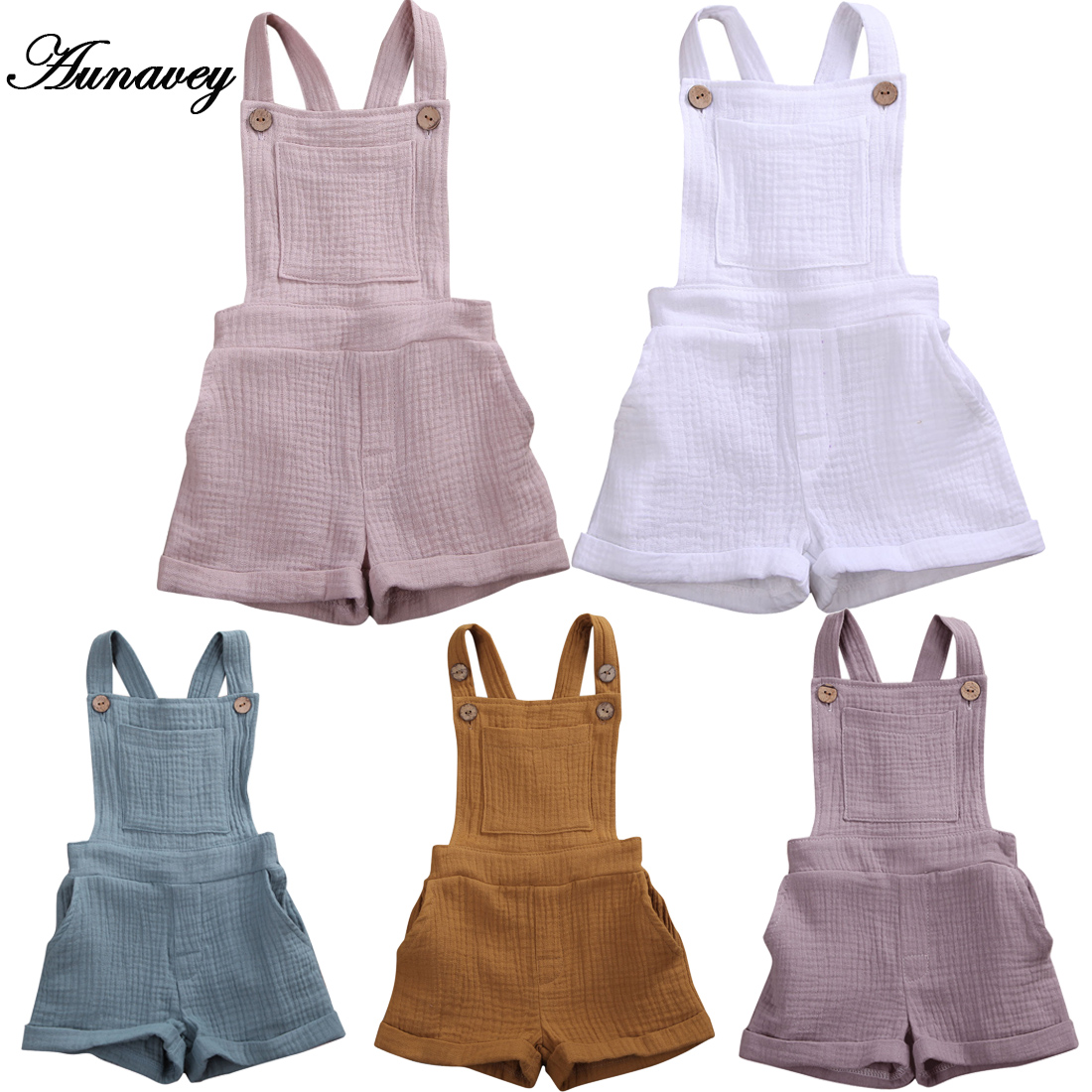 Suspender Ruffles Shorts Overall Outfit Aunavey Baby Girls Suspender Pants Set Striped Short Sleeve Shirt