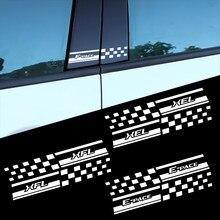 Autocollants de décoration de vitres latérales en PVC, 2 pièces, piliers B, pour Jaguar S-TYPE XE XF XK XJR XFR XEL XFL E-PACE F-PACE I-PACE