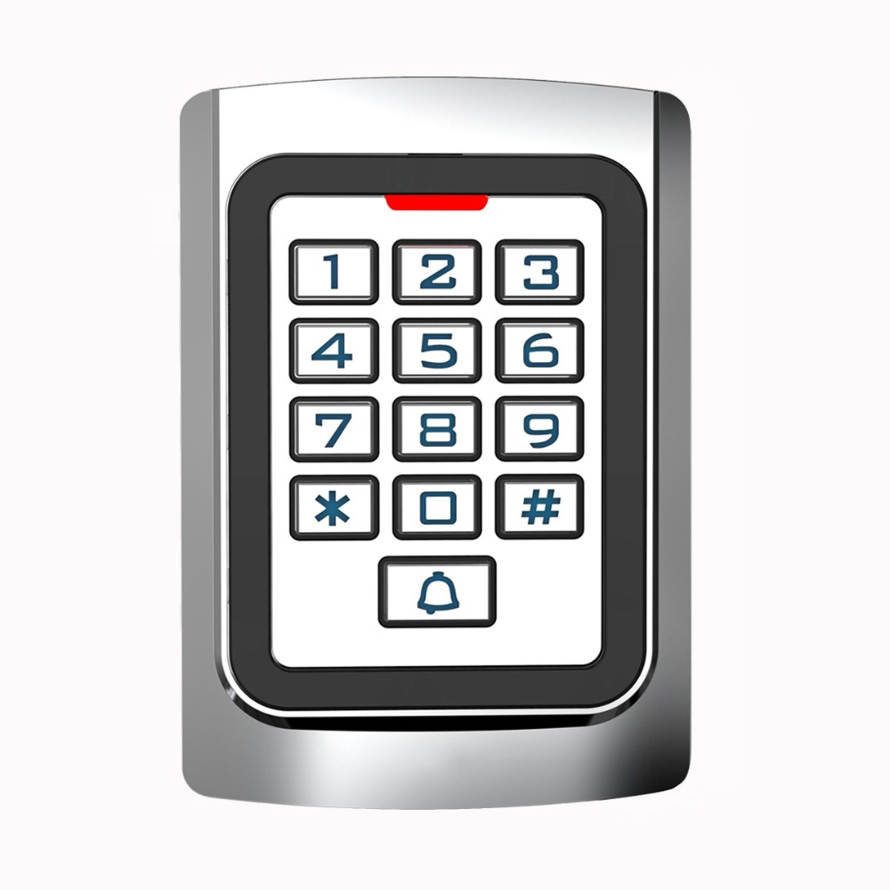 Metal Case Silicon Keypad Security Entry Door Reader RFID 125Khz EM Card Standalone Access Control F1331D