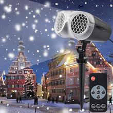 Lawn-Lamp Laser Projector Stage-Light Snowstorm Remote-Control Led Snowflake Christmas-Party