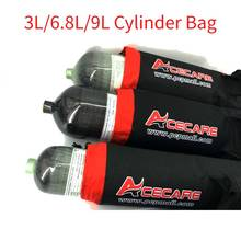 Ac8004 paintball pcp/스쿠버 탱크 가방 3l/6.8l/9l 슈팅 대상 장비 condor 다이빙 풍선 고압 실린더