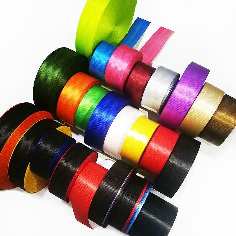 25 cores 17 M Multicolor Cinto de Segurança Do Carro 3-Point Modificação do Carro Personalizado Cinto de Segurança Para DIY 5-Seater