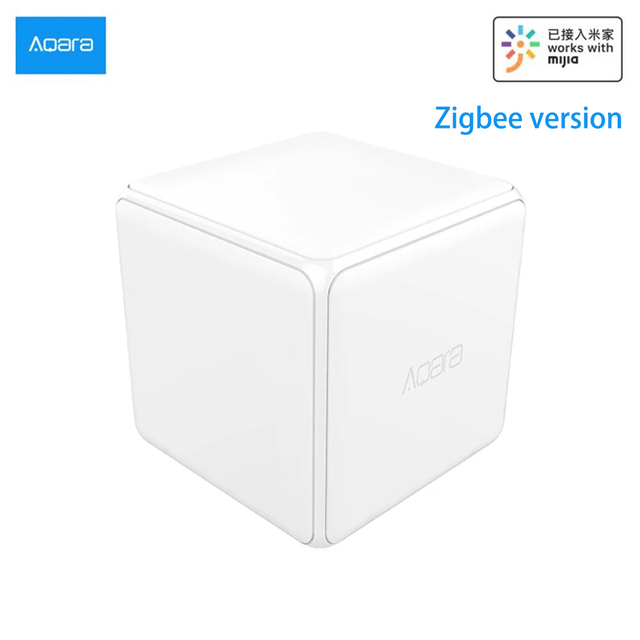 Aqara Magic Cube Controller Zigbee Version Controlled by Six Actions For Smart Home Device Work With Smart Home App