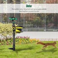 Solar powered movimento ativado animal repeller jardim sprinkler espantalho animais dissuasor sprinkler versão atualizada