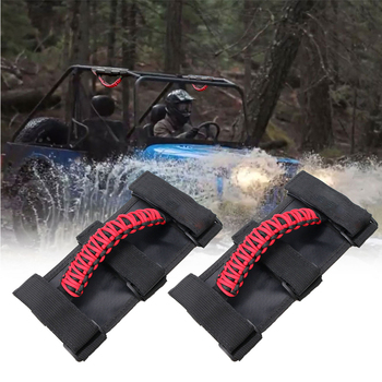 Car Roll Bar Grab Handle For Jeep Wrangler JK JKU JL YJ TJ CJ Sports Rubicon Universal Canvas handle Red Black Orange Green image