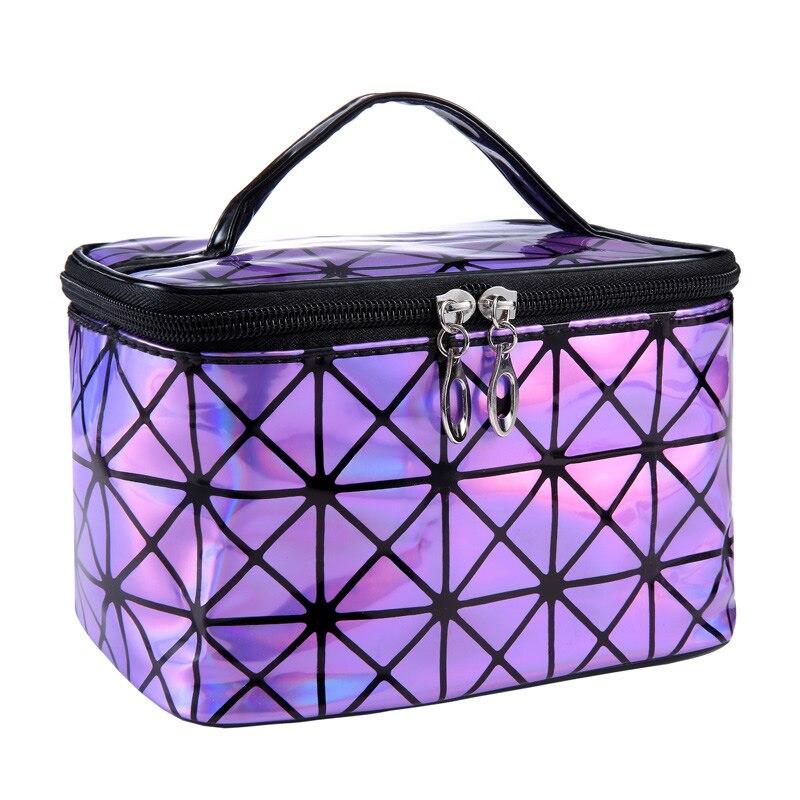 Saco Cosmético Funcional WSYUTUO Mulheres Moda PU bolsa de Viagem Compõem Necessaries Organizador Zipper Caso Bolsa de Maquiagem Saco Kit de Higiene