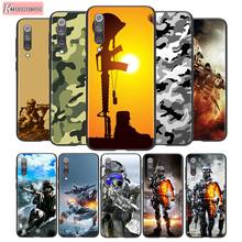 For Xiaomi 10 CC9 A3 Lite Black Cover Soldier Camo Camouflage For