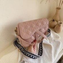 Модная седельная сумка из искусственной кожи, женские роскошные сумки на плечо, маленькая круглая сумочка, Весенняя и летняя сумка через плечо