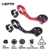 ZTTO-soporte de ordenador para bicicleta de montaña, soporte de luz frontal para Garmin/Cateye/Bryton