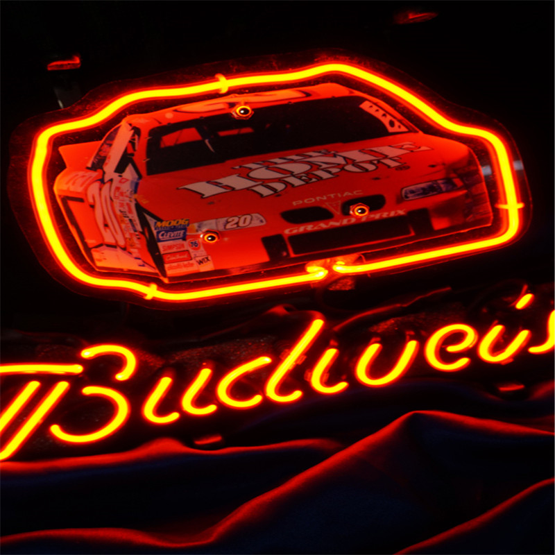 Sports Car Glass Tube neon Sign for Bedroom all size 17'' 19'' 24'' 30'' CROSS neon light for party home image