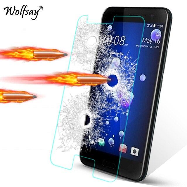 유리에 대 한 2pcs HTC u11에 대 한 강화 유리 HTC u11에 대 한 화면 보호기 U11 U12 플러스 U12 + 욕망 820 620 투명 필름