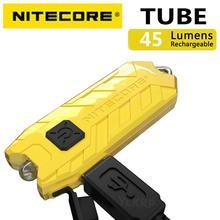 NITECORE أنبوب ضوء المحمولة مايكرو USB قابلة للشحن EDC جيب مصباح يدوي مقاوم للماء حجم صغير ضوء الوزن 10 مصباح مفتاح ملون
